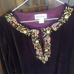 Diane Von Furstenberg Purple Velvet Tunic